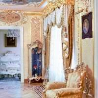 яркий дизайн спальни в стиле рококо фото