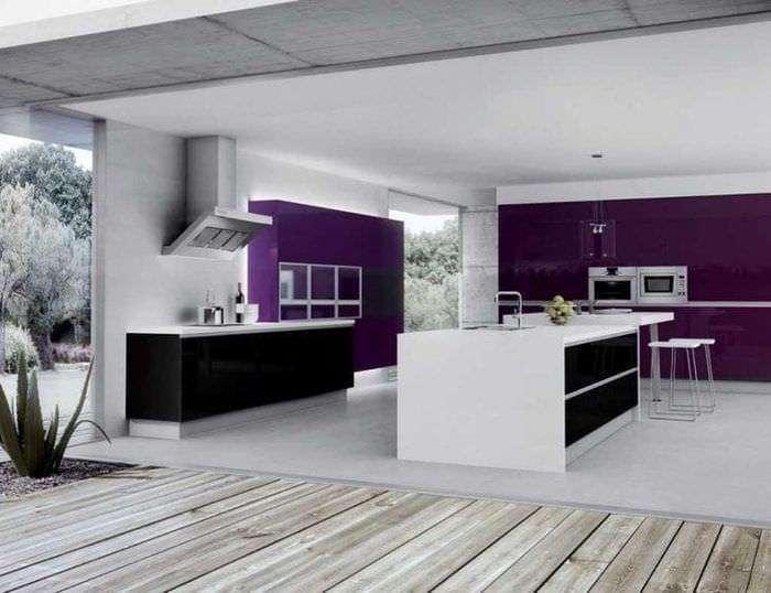 красивый дизайн спальни в фиолетовом цвете