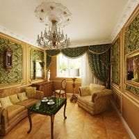 яркий дизайн кухни в стиле барокко фото