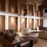 яркий стиль гостиной в стиле фьюжн фото