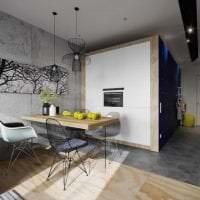 яркий дизайн спальни в стиле лофт картинка