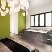 светлый декор спальни в стиле авангард фото