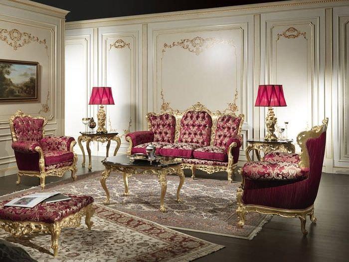 красивый дизайн прихожей в стиле барокко