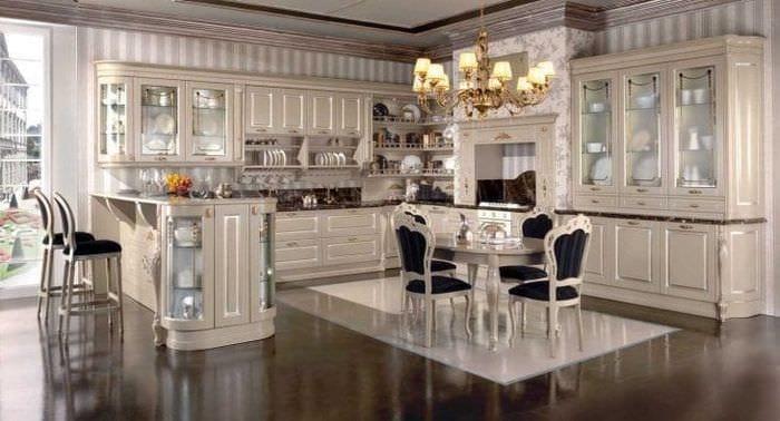 красивый стиль элитной кухни в стиле модерн