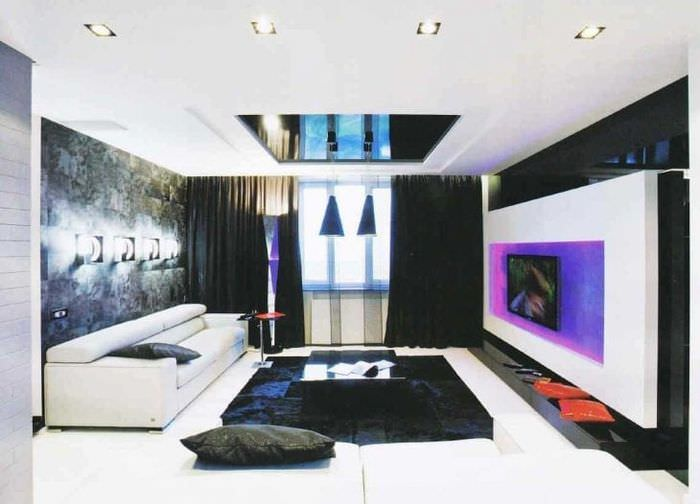светлый декор спальни в стиле авангард