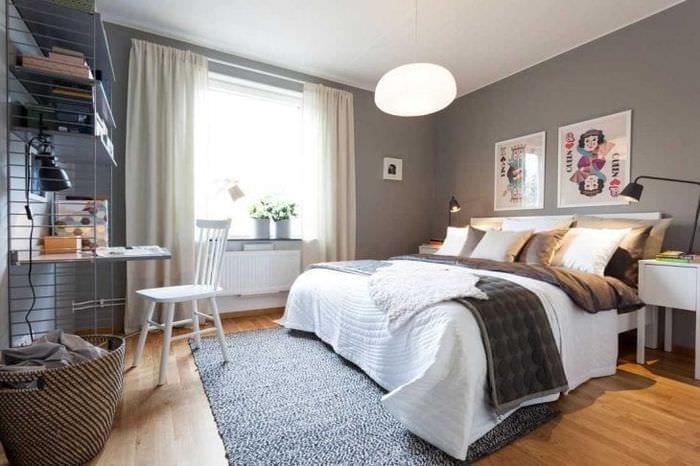 красивый декор квартиры в шведском стиле