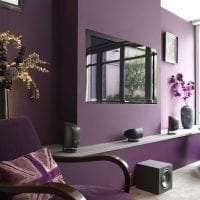 красивый дизайн прихожей в фиолетовом цвете картинка
