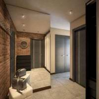 необычный дизайн квартиры в цвете венге картинка