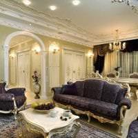 светлый стиль гостиной в стиле барокко фото