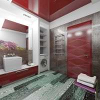 яркий бордовый цвет в интерьере квартиры фото