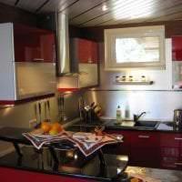 красивый бордовый цвет в декоре дома картинка