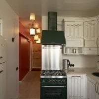 небольшой холодильник в стиле кухни в белом цвете фото