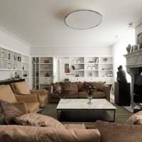 яркий стиль квартиры в стиле фьюжн картинка