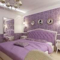 светлый интерьер прихожей в фиолетовом цвете картинка