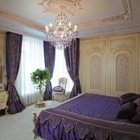 яркий дизайн спальни в стиле барокко фото