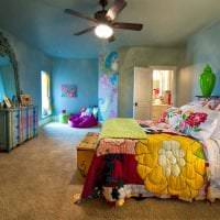шикарный дизайн спальни в стиле бохо фото