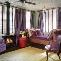 красивый декор квартиры в фиолетовом цвете картинка