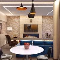 красивый дизайн кухни в стиле гранж фото