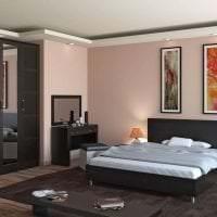 необычный интерьер гостиной в цвете венге фото