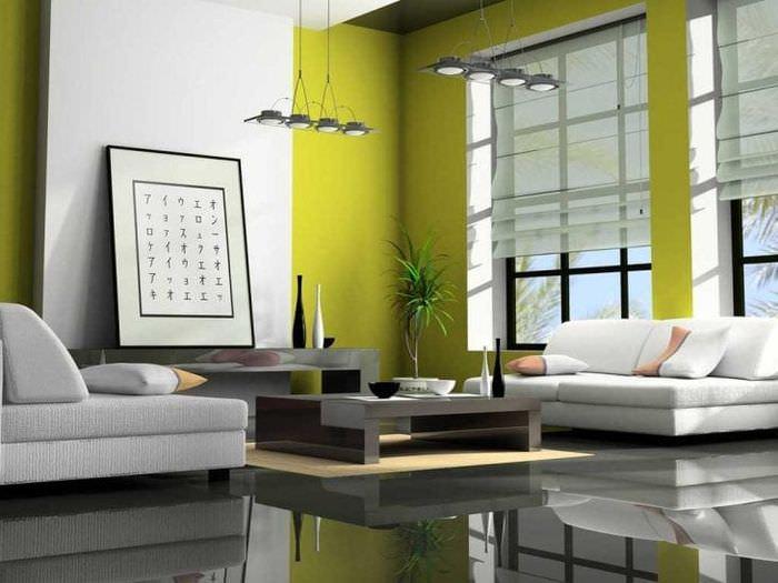 яркий декор квартиры в стиле авангард