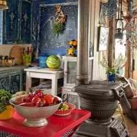 яркий декор кухни в стиле бохо фото