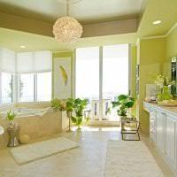 красивый фисташковый цвет в интерьере спальни картинка