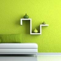 яркий фисташковый цвет в стиле спальни картинка