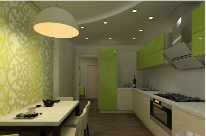 необычный фисташковый цвет в интерьере квартиры