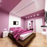красивый интерьер коридора в фиолетовом цвете картинка