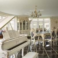 яркий дизайн спальни в стиле барокко картинка