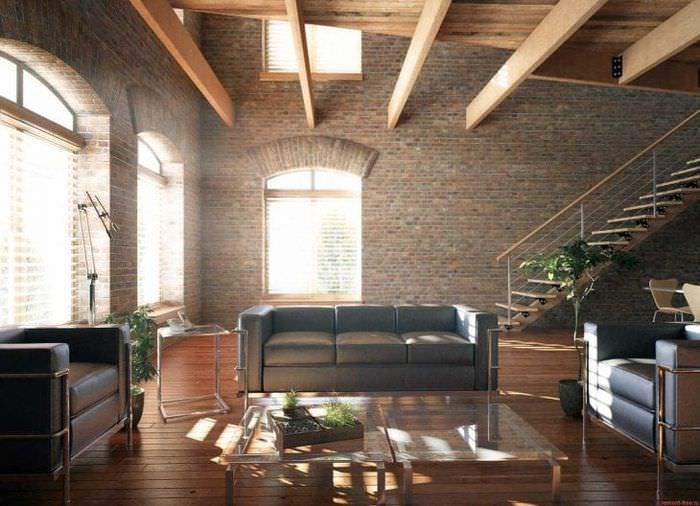 яркий декор квартиры в стиле лофт