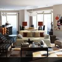 необычный стиль гостиной в стиле фьюжн фото