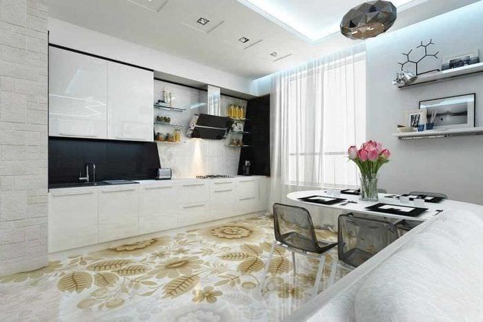 красивый стиль квартиры в стиле фьюжн