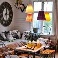 шикарный дизайн гостиной в стиле бохо фото