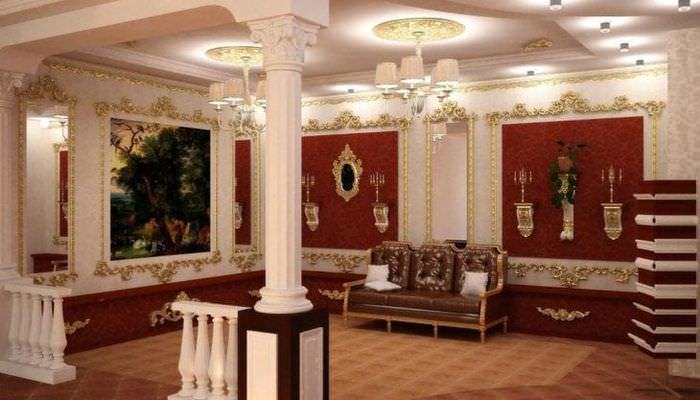 яркий стиль квартиры в стиле барокко
