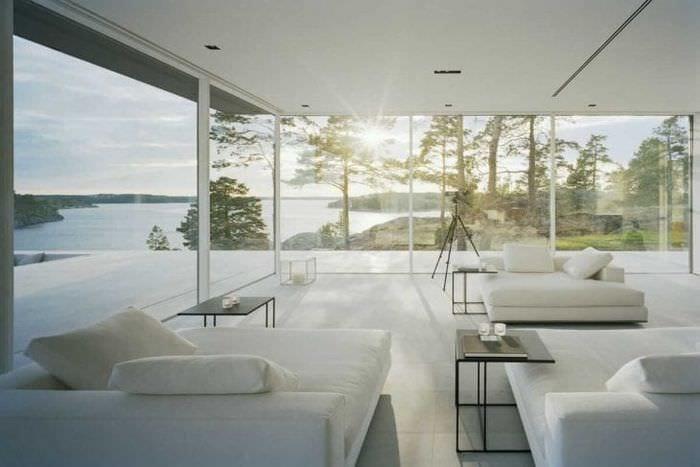 отражающее стекло в стиле квартиры