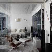 прозрачное стекло в дизайне спальни картинка