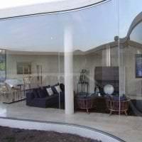 прозрачное стекло в декоре кухни фото