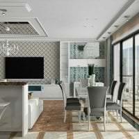 отражающее стекло в стиле квартиры картинка