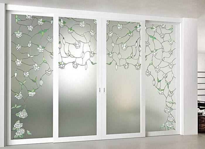 прованс дизайне стекла с рисунком душе пусть