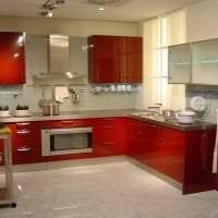 сочетание красного с другими цветами в дизайне коридора картинка
