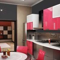 комбинирование красного с другими цветами в интерьере дома фото