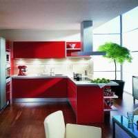 комбинирование красного с другими цветами в декоре квартиры картинка