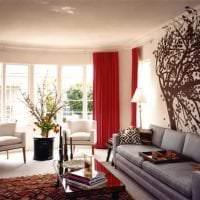 сочетание красного с другими цветами в интерьере коридора фото