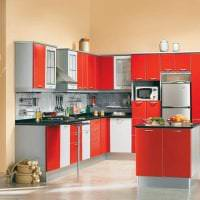 комбинирование красного с другими цветами в декоре прихожей фото