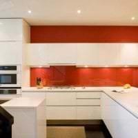 комбинирование красного с другими цветами в дизайне дома фото