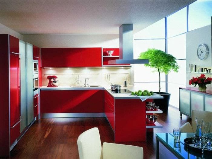 сочетание красного с другими цветами в декоре квартиры