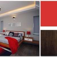 сочетание красного с другими цветами в интерьере спальни картинка
