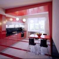 комбинирование красного с другими цветами в стиле квартиры фото