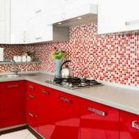 сочетание красного с другими цветами в стиле коридора фото